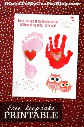From The Tip Of My Toes - Keepsake Printable
