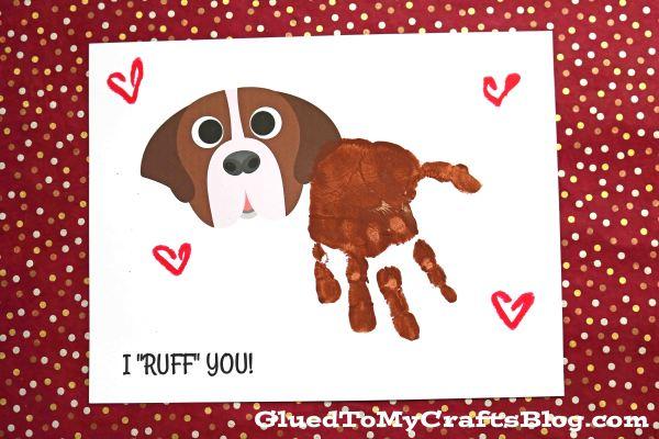 "Handprint Dog - I ""RUFF"" You Keepsake Printable"