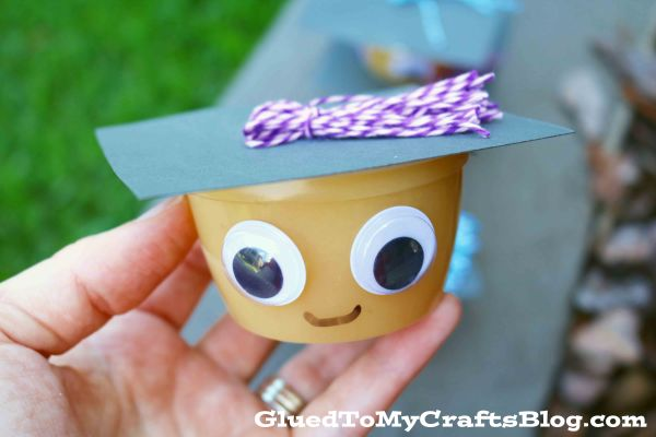 Graduation Applesauce Cups - Party Snack Idea