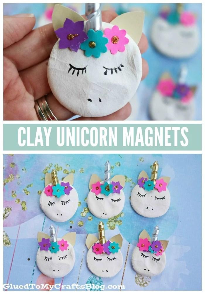 Clay Unicorn Magnets - Kid Craft