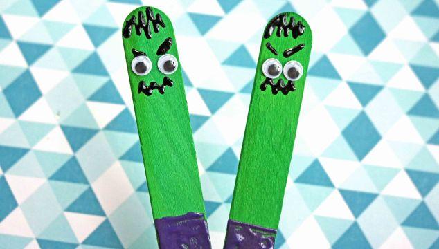 Craft Stick Hulk Puppet – Kid Craft