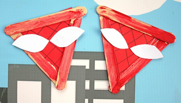 Popsicle Stick Spiderman – Kid Craft
