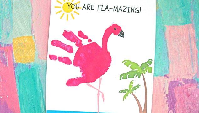 FLA-MAZING - Handprint Flamingo Keepsake Printable