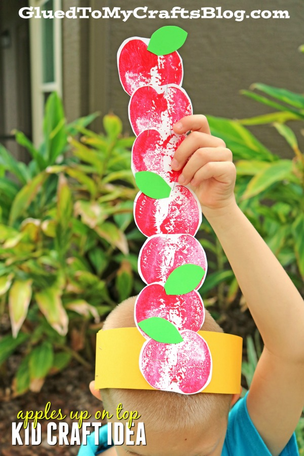 Stamped Apples Up On Top Hat - Kid Craft