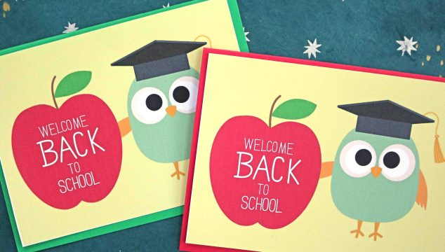 Welcome Back To School – Owl Card Printable