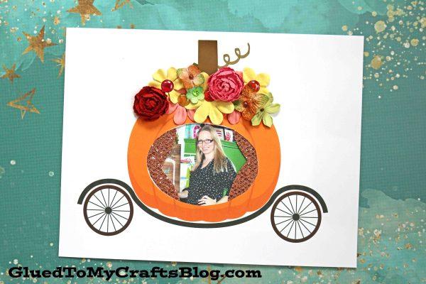 Paper Pumpkin Carriage - Kid Craft Idea