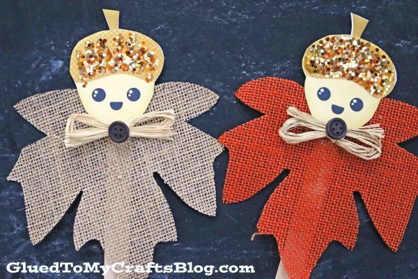 Fall Acorn Friend Puppets - Free Printable Included