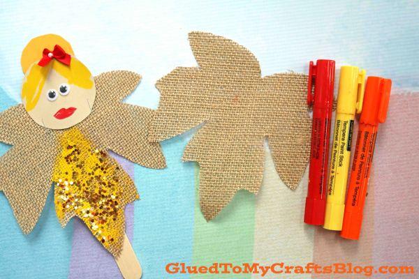 Autumn Leaf Fairies - Puppet Kid Craft