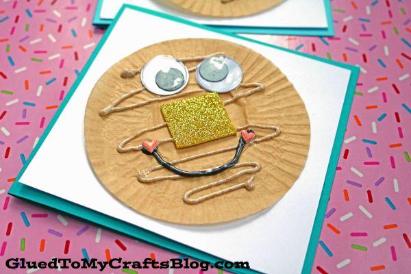 Cupcake Liner Pancake Friend Cards