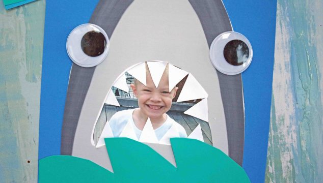 Paper Shark Mouth – Kid Craft w/free printable