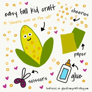 Cheerio Corn On The Cob Kid Craft