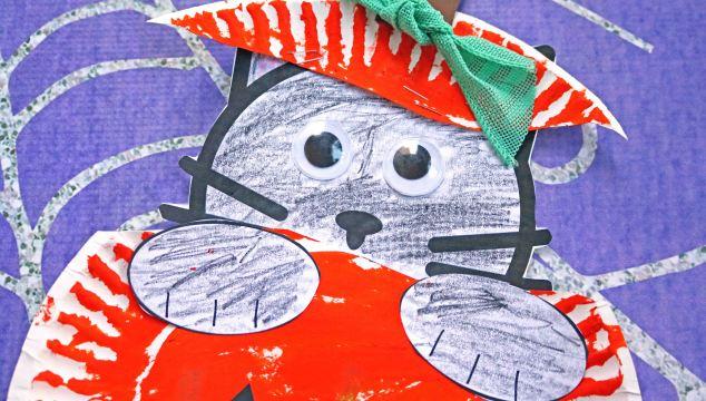 Paper Plate Black Cat In Pumpkin – Kid Craft