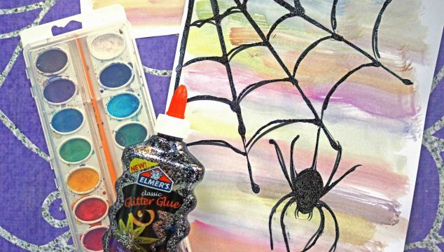 Watercolor Spider Web – Kid Craft Idea