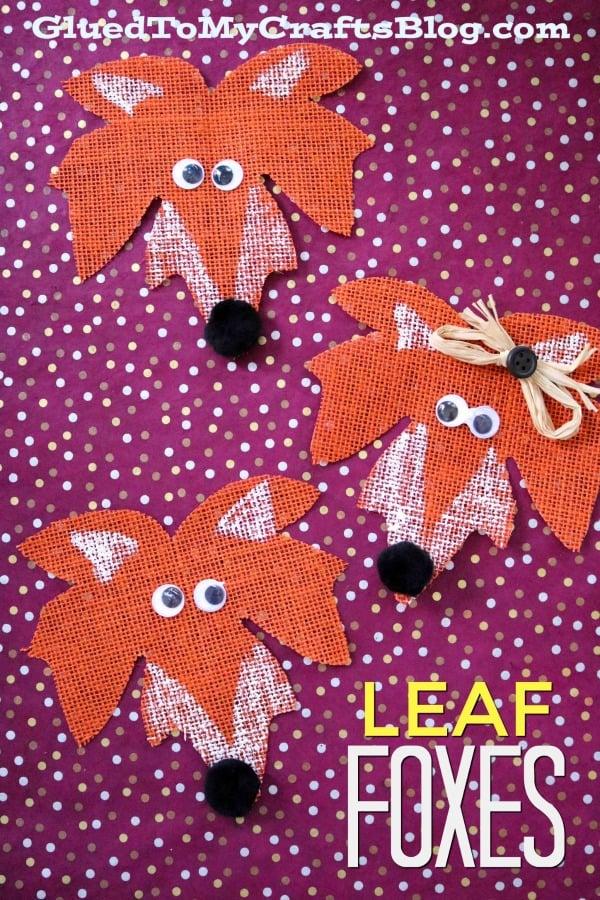 Fall Leaf Fox - Kid Craft