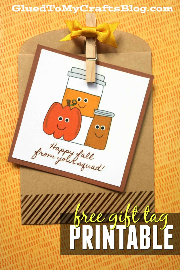 Fall Pumpkin Spice Squad - Gift Tag Printable
