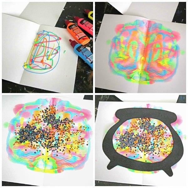 Paint Splat Witch's Cauldron - Kid Craft