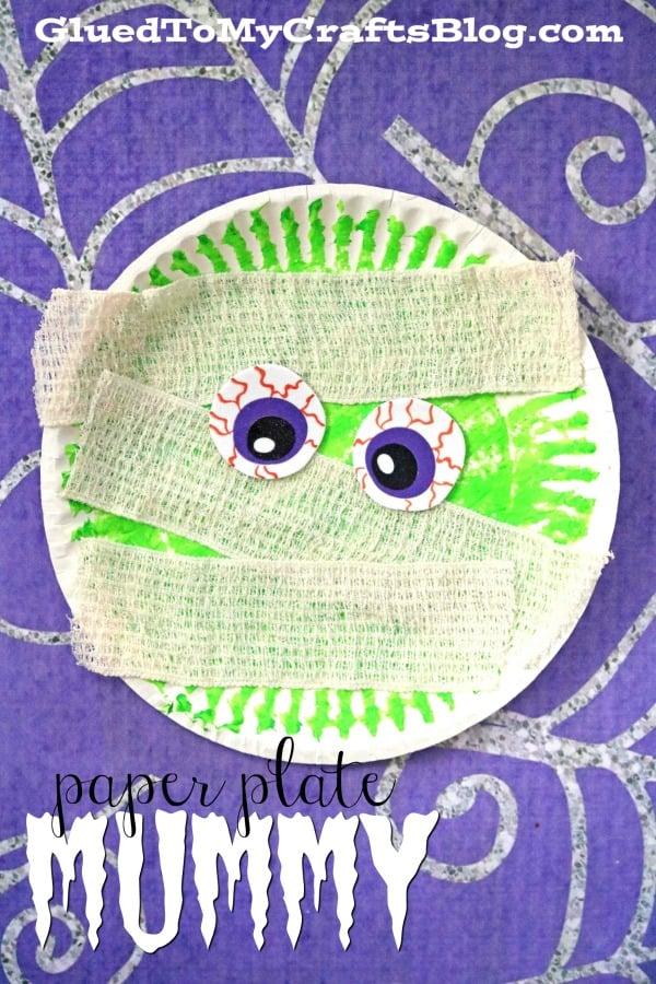 Paper Plate Mummy - Kid Craft Idea