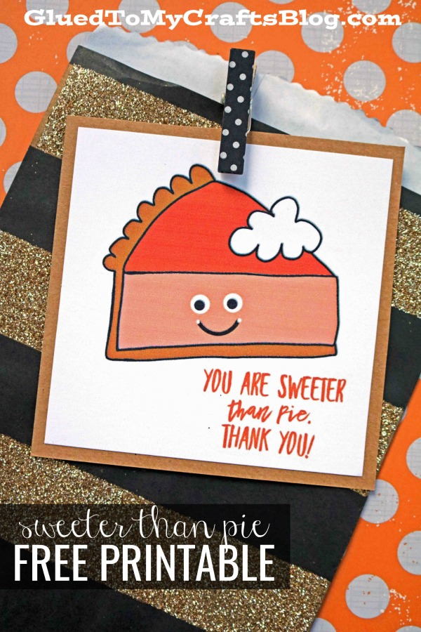 Sweeter Than Pie - Fall Gift Tag Printable