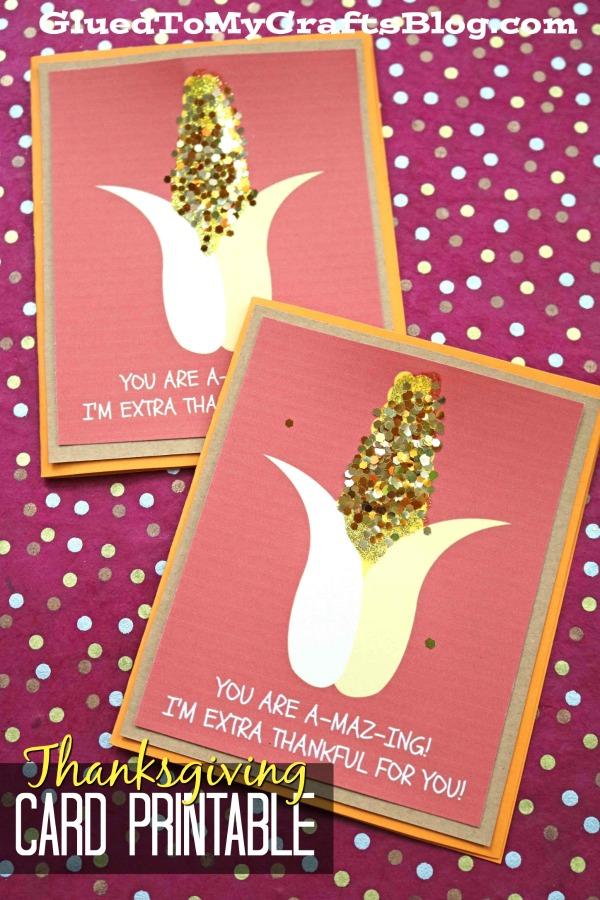 You Are A-MAZ-ING Thanksgiving Card Printable