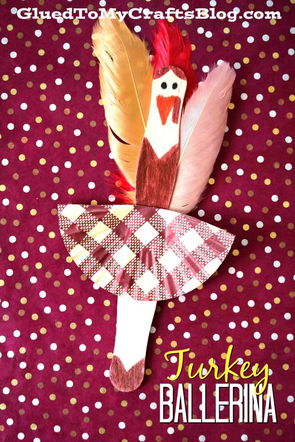 Craft Stick Turkey Ballerinas - Kid Craft