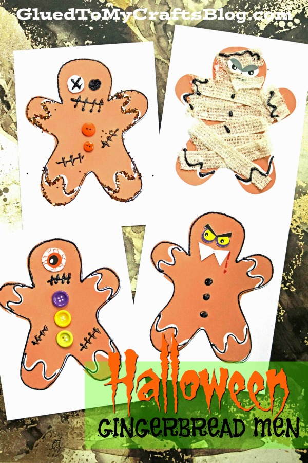 Mixed Media Halloween Gingerbread Man Craft