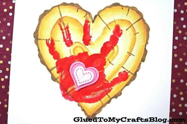 Little Forever - Handprint Wood Slice Heart Keepsake Printable