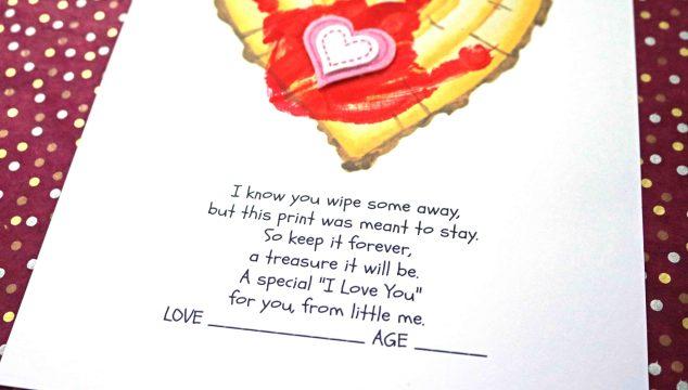 Little Forever – Handprint Wood Slice Heart Keepsake Printable
