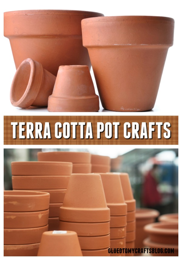 Terra Cotta Pot Craft Roundup on Glued To My Crafts