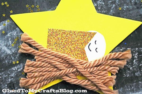 Baby Jesus Christmas Star Ornament - Kid Craft