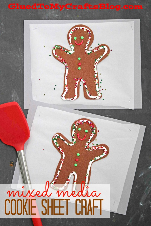 Paper Christmas Cookie Sheet - Mixed Media Kid Craft - Glued To My ...