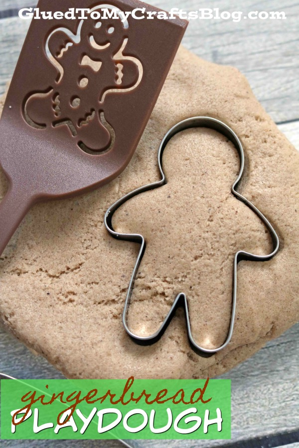 No Cook Gingerbread Scented Playdough