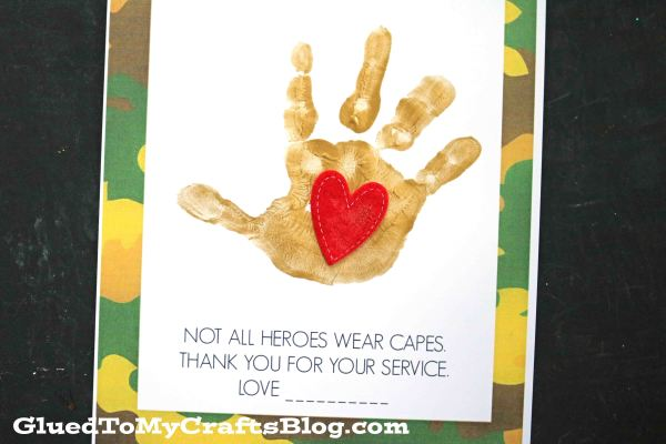 Not All Heroes Wear Capes - Handprint Keepsake