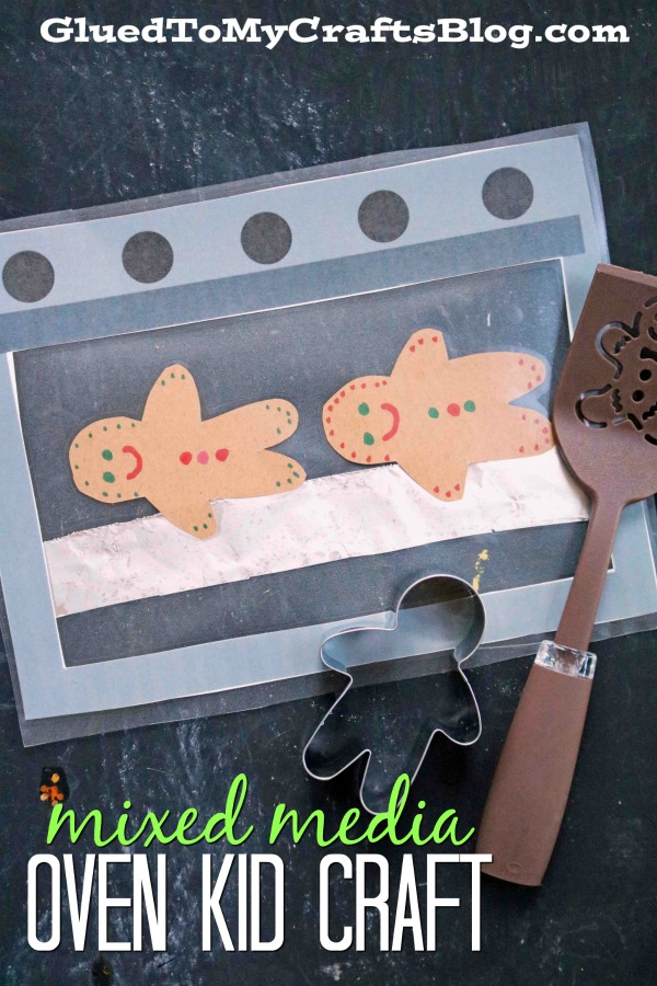 Let's Bake! Mixed Media Gingerbread Cookies In Oven Kid Craft