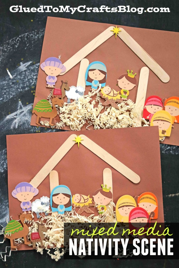 Mixed Media Nativity Scene Craft