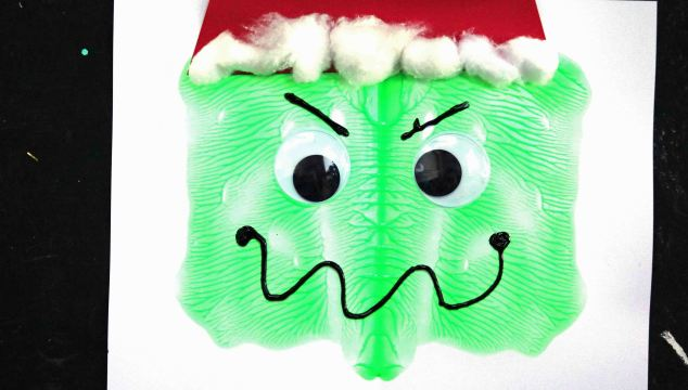 Paint Splat Grinch Face – Kid Craft
