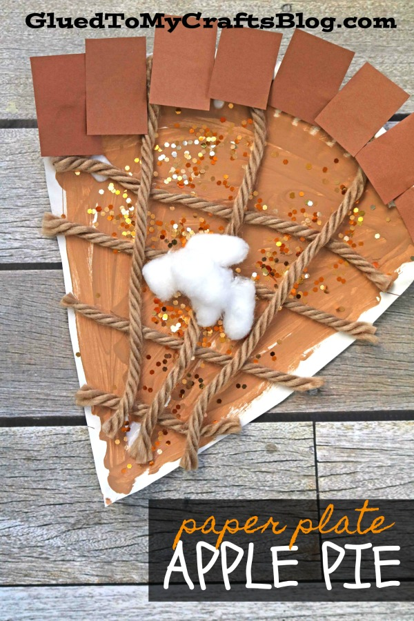 Paper Plate Apple Pie Slice - Kid Craft