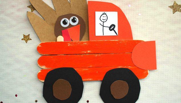 Popsicle Stick Thanksgiving Truck - Kid Craft