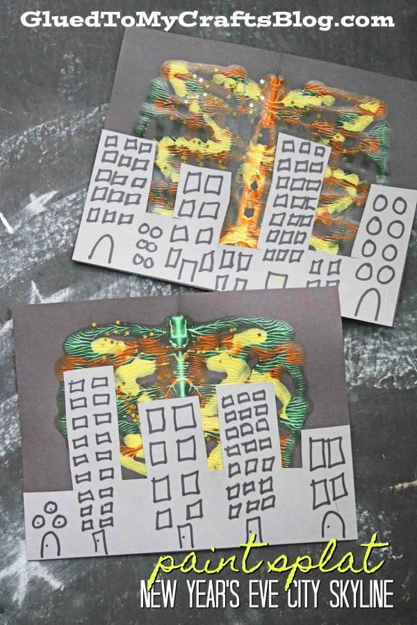 Paint Splat New Year's Eve City Skyline - Kid Craft