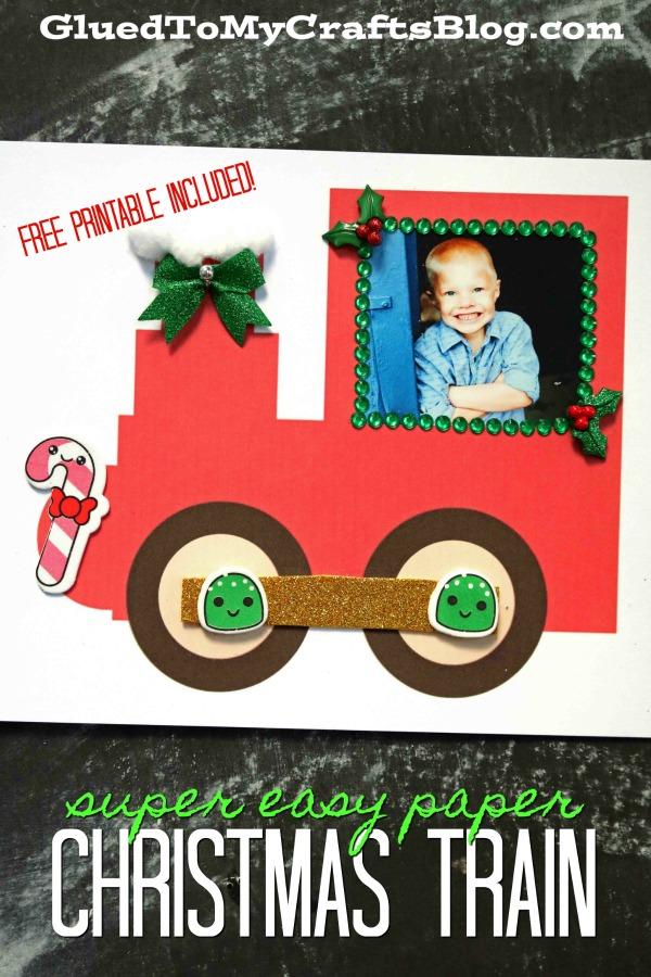Paper Christmas Train - Kid Craft & Keepsake