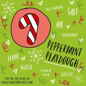 Peppermint Playdough Recipe - Christmas Kid Craft Idea