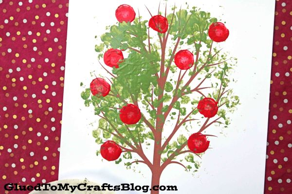 Bubble Wrap Apple Tree - Kid Craft