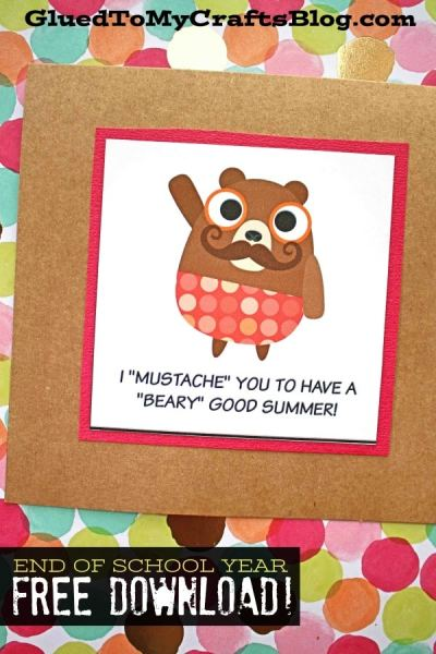 I Mustache You To Have A Beary Good Summer Tag