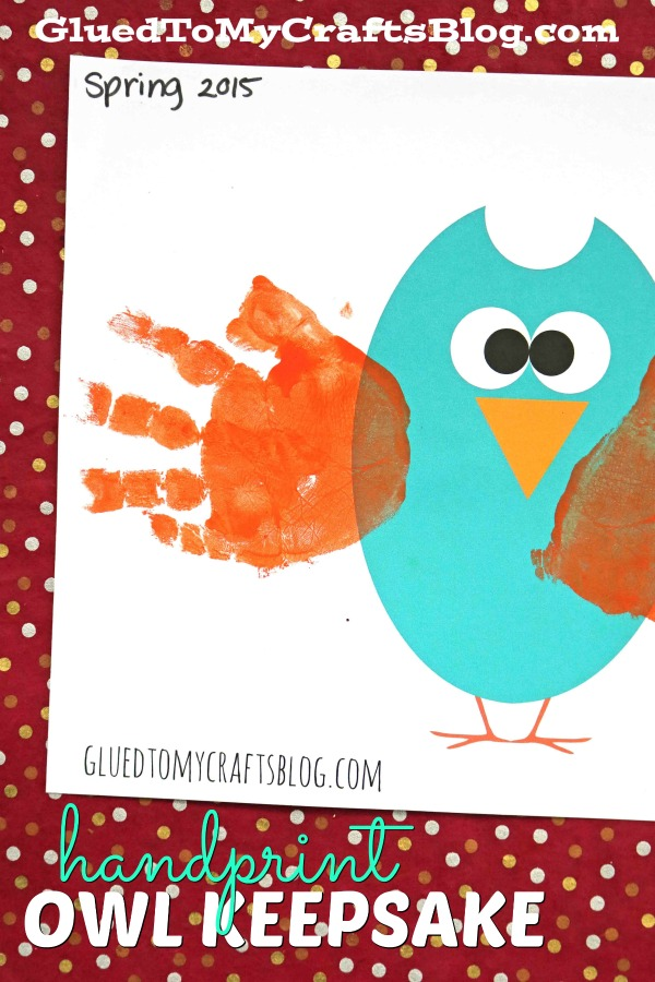 picture regarding Free Owl Printable Template called Handprint Owl w/cost-free printable template