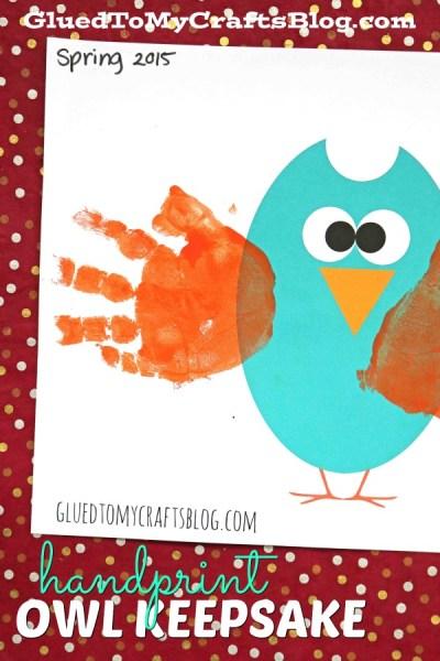 Handprint Owl Keepsake w/free printable template