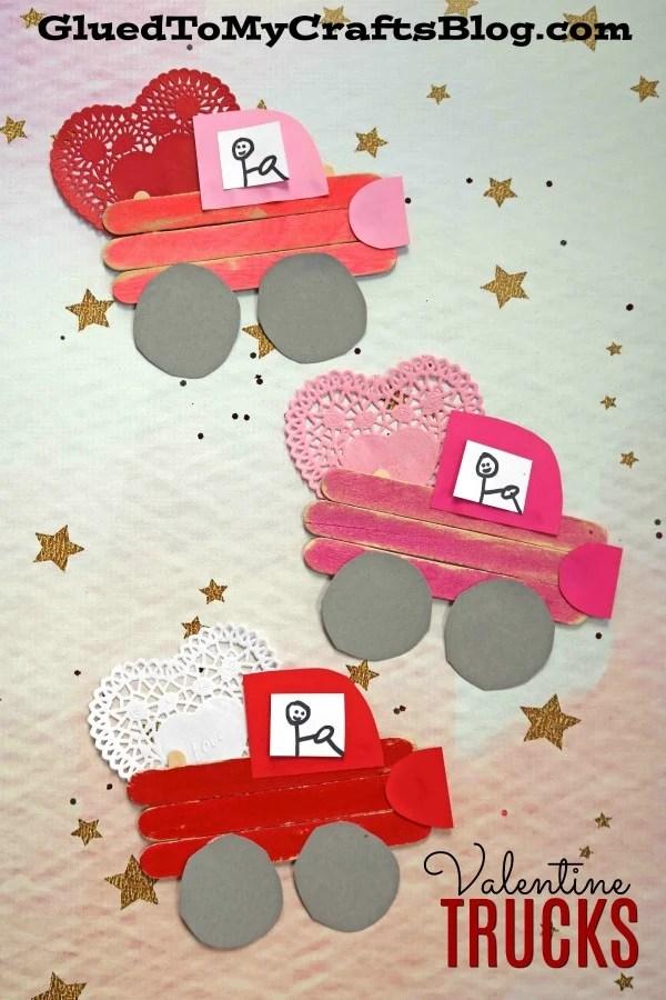 Popsicle Stick Valentine Love Truck - Kid Craft