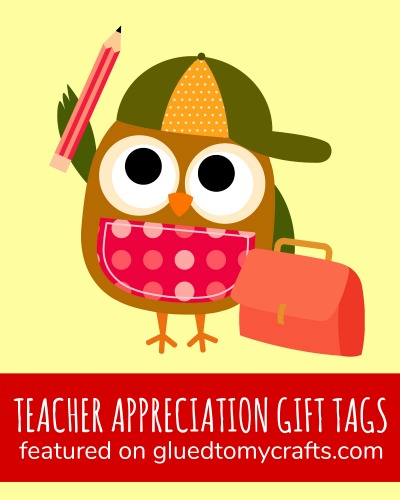 Teacher Appreciation Gift Tag Collection