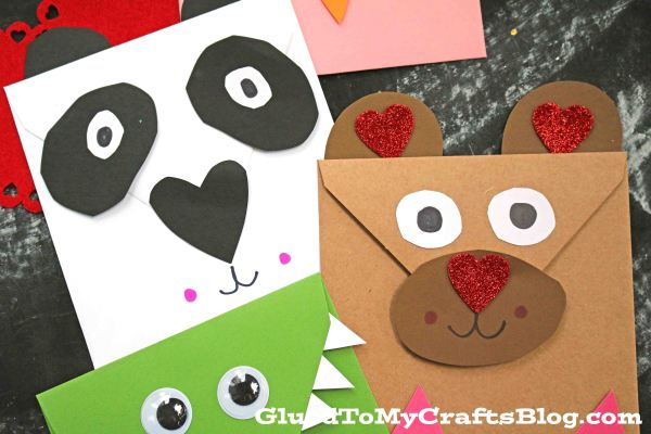 Valentine Critter Friends - Kid Craft Idea
