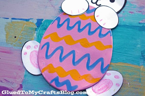 Simple Easter Egg Holding Bunny - Kid Craft