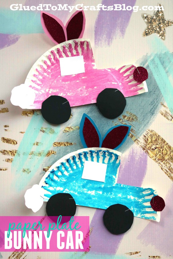 Paper Plate Easter Bunny Cars - Kid Craft