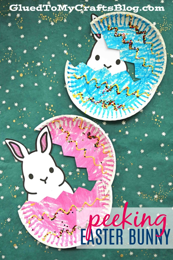 Paper Plate Peeking Easter Bunny Kid Craft Glued To My Crafts